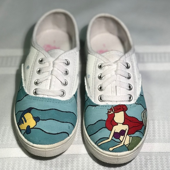 3faa15f9e05f4d Little mermaid shoes HAND PAINTED 🤚🏼